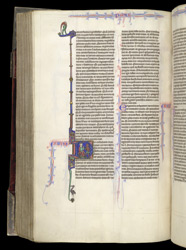 King David And A Devil, Pointing To His Mouth, In The Bible Of William Of Devon